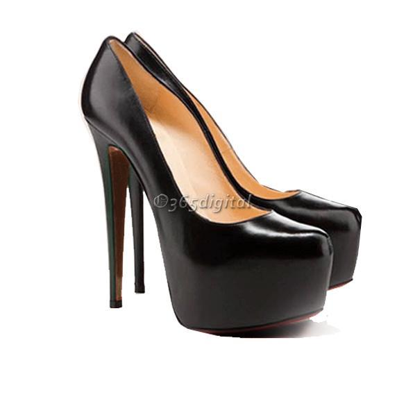 Luxury-14CM-Womens-Super-High-Heel-Shoes-Pump-Platform-Four-Sizes-Black-Apricot